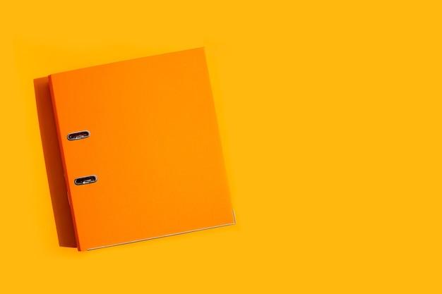 Orange office folder. top view