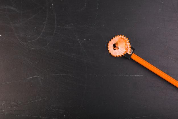 Orange pencil sharpening
