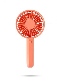 격리 된 흰 배경에 주황색 포켓 팬