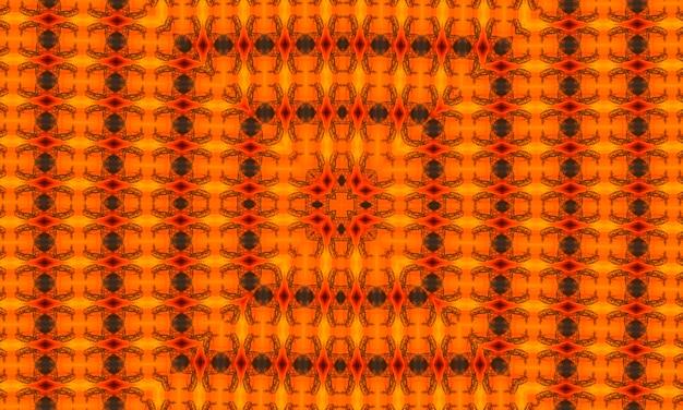 삼각형으로 구성된 주황색 다각형 만화경 패턴입니다. 그라데이션으로 종이 접기 스타일의 기하학적 배경입니다. 귀하의 비즈니스를 위한 삼각형 디자인.