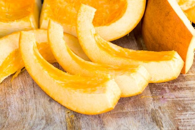 オレンジ色のカボチャ