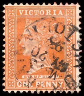 Orange queen victoria stamp  scrapbooking