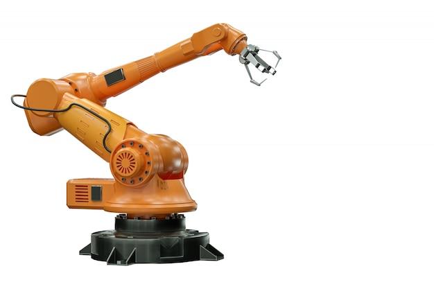 Orange robot arm manipulator