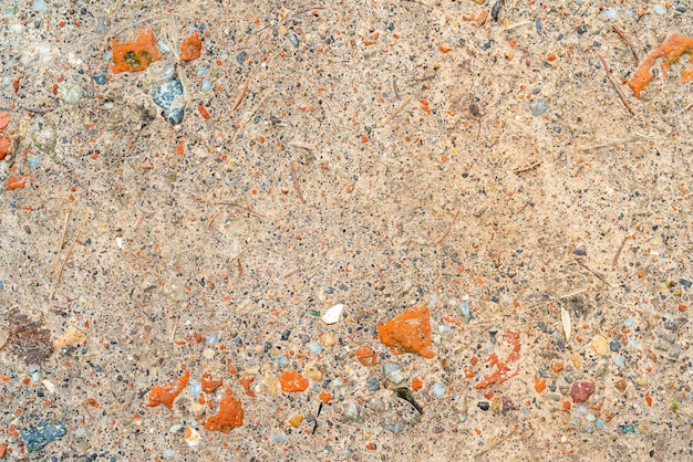 Orange rocky surface. rough abstract background. texture of rocky soil.