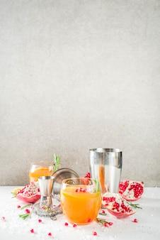 Orange and rosemary fizz