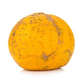 Orange. rotten. dirty. isolated on white background