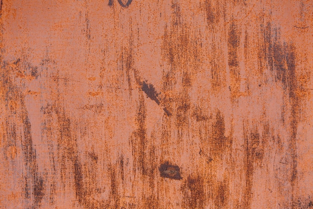 Orange rust texture on the wall