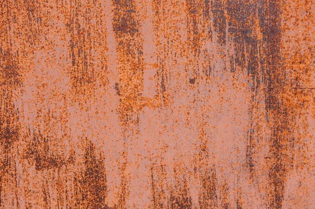 Orange rust texture on the wall
