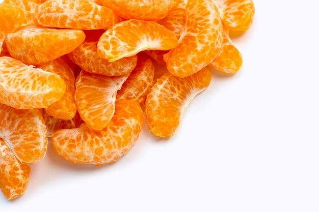 オレンジ色のセグメント。コピースペース