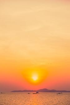 Orange sky blue color sunny