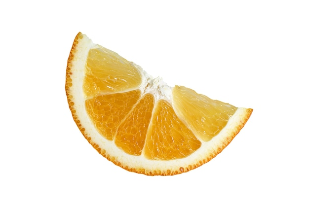 Долька апельсина крупным планом