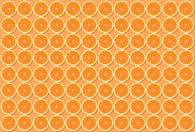背景のオレンジスライスパターン