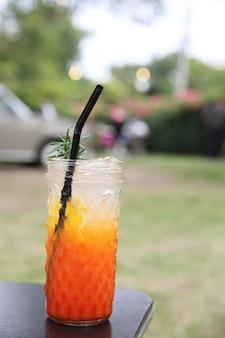 Orange soda cocktail