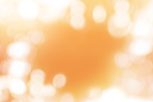 Orange soft background with natural bokeh