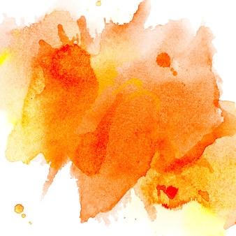 オレンジは水彩をはねます