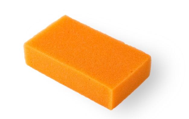 Губка для ванны orange squire, изолированная на белом