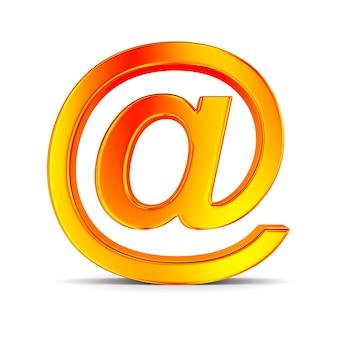 Оранжевый символ электронной почты на белом.