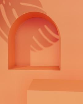 제품 배치를위한 주황색 탁상용 스탠드