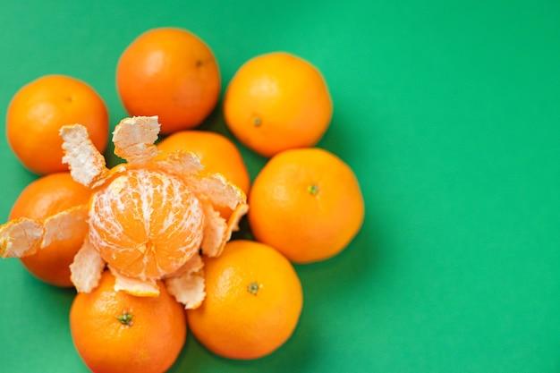오렌지 귤 신선한 육즙 과일 클레멘 타인 먹을 준비가