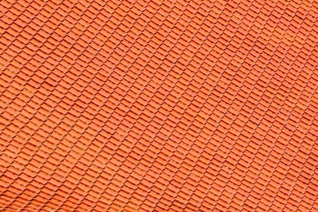 Orange tile roof pattern at temple