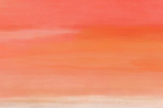 オレンジ色の水彩画の背景、デスクトップの壁紙の抽象的なデザイン
