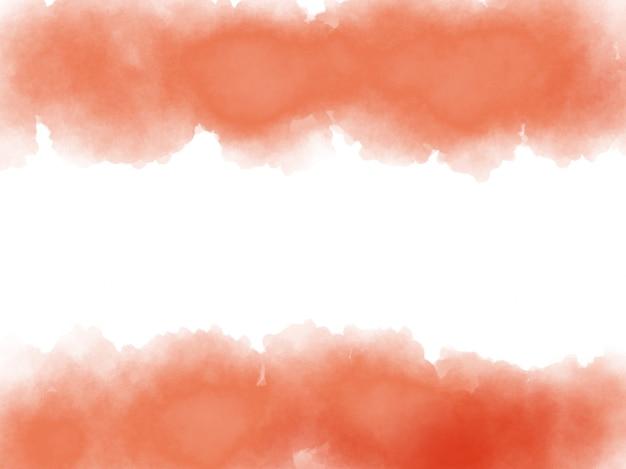 Sfondo arancione acquerello