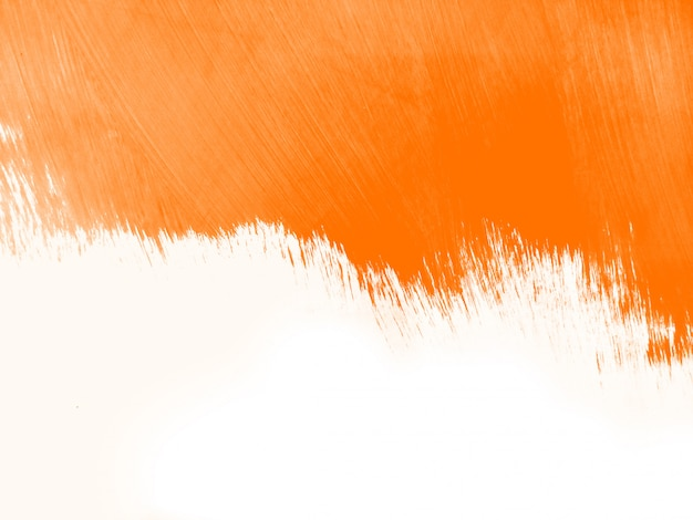Orange watercolor brush stroke background