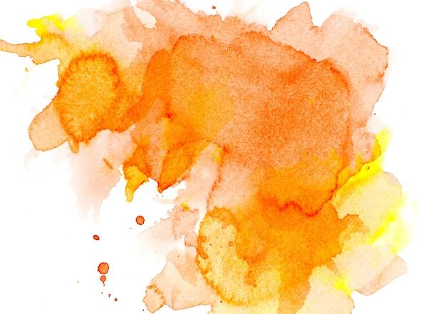 オレンジ色の水彩画。