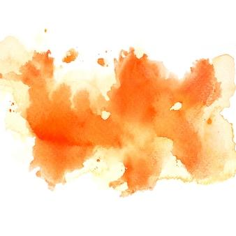 オレンジ色の水彩画
