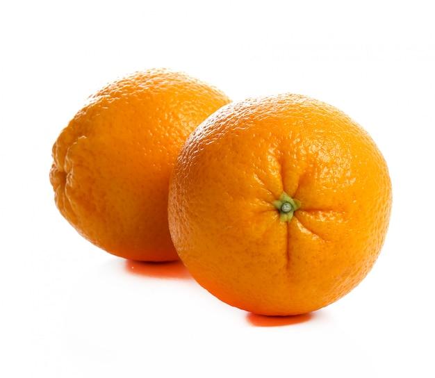 Orange on whites on white