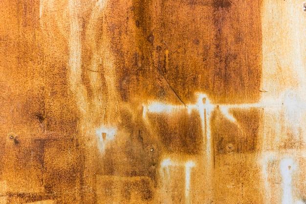 Orange worn rusty metal texture background