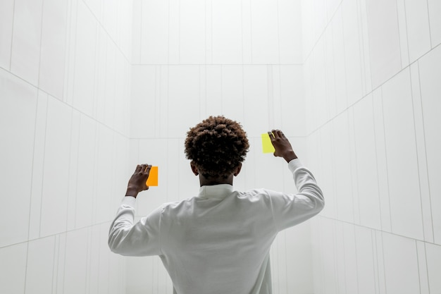 Orange and yellow  futuristic screens