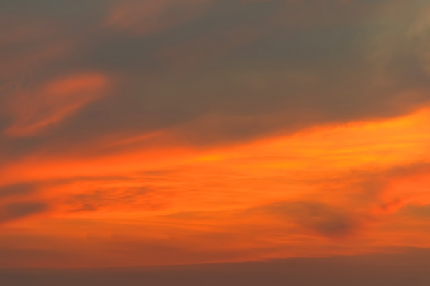Orange and yellow sky.sky after sunset or sunrise