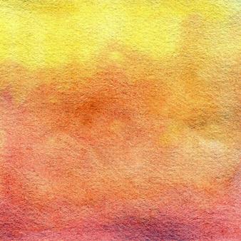 Оранжевый желтый акварель текстуры handdrawn акварель фон