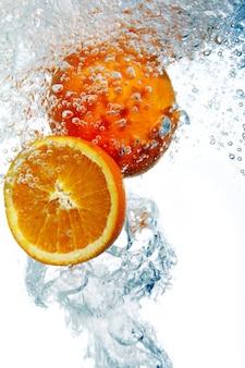 Апельсины упали в воду