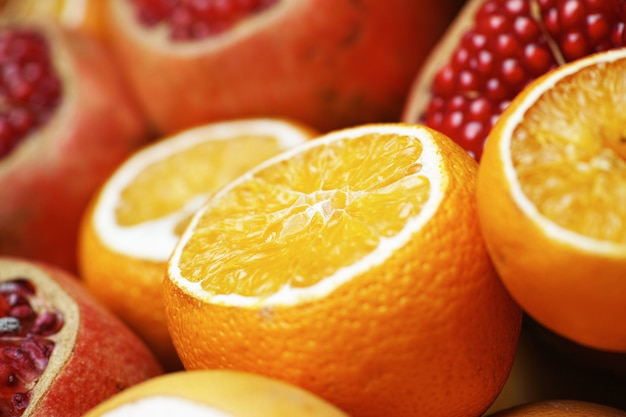 Oranges and pomegranates