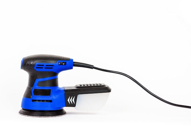 Orbital electric sander isolated on white background