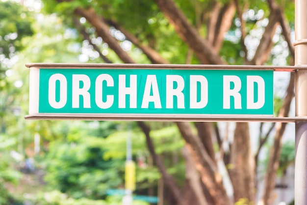 Orchard sign at singapore