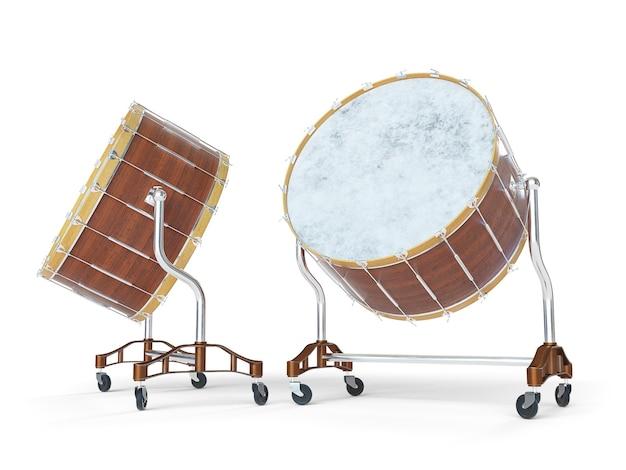 白のオーケストラビッグドラム