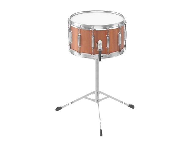 오케스트라 작은 드럼 흰색 절연