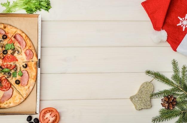 クリスマスとお正月の休日にピザを注文する