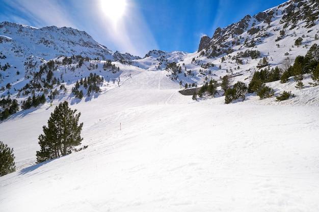 Ordino arcalis ski resort sector in andorra