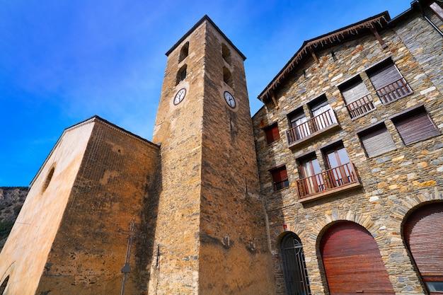 Ordino village in andorra pyrenees