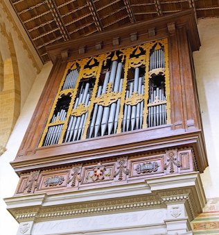 Organ duomo santa maria del fiore and campanile. florence. inside interior. italy