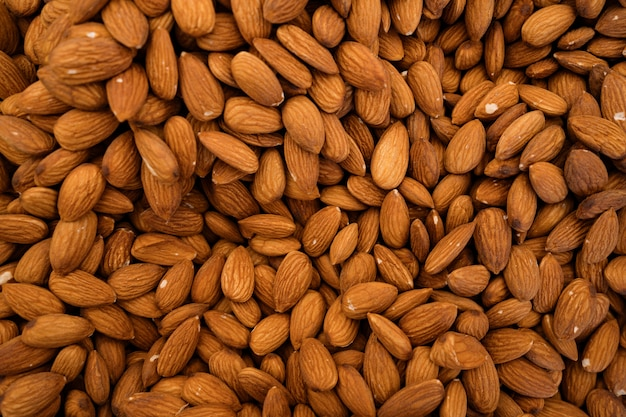Organic almonds background