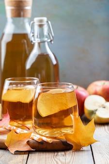 Organic apple cider or juice.