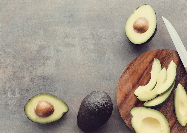 Organic avocado fruit