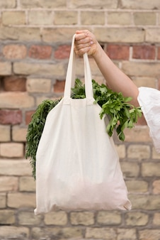 Organic bag with parley and dill