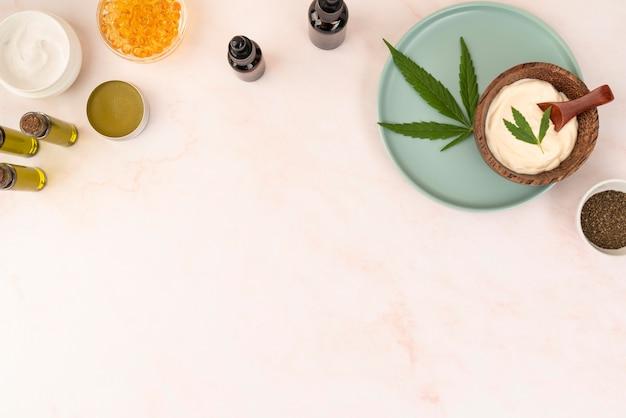 有機大麻製品の品揃え