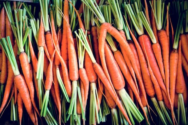 Organic carrot natural food freshness